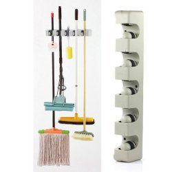Vktech® Wall Organizer -Plastic Mop, Broom, And Long-Handled Tool Or Sports Equipment Holder System-Mount On The Wall In Your Home'S Kitchen Or Garage ,Great Storage Idea For Staying Organized