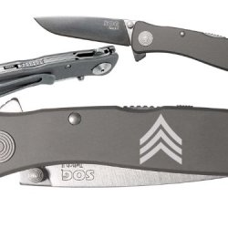 Military Rank Sergeant Sol Custom Engraved Sog Twitch Ii Twi-8 Assisted Folding Pocket Knife By Ndz Performance