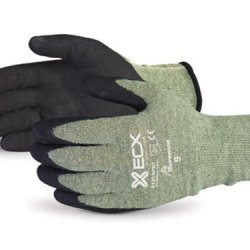Superior S13Cxpnt Emerald Cx Kevlar/Stainless Steel String Knit Glove With Micropore Grip Nitrile Palm, Work, Cut Resistant, 13 Gauge Thickness, Size 9 (Pack Of 1 Pair)
