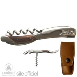 Laguiole Corkscrew, Sommelier Signed By Markus Del Monego, Best Sommelier In The World / 1998, And Germany / 1988 And 1991. Authentic Genuine Chateau Laguiole. Hand Made In France. Delivered With Personalized Leather Case