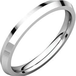 2.5Mm Knife Edge Comfort Fit Band In 14K White Gold - Size 5