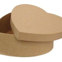 Paper Mache Heart Box 7 1/2 In. By Craft Pedlars
