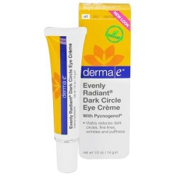 Derma E Evenly Radiant Dark Circle Eye Creme, .5 Ounce