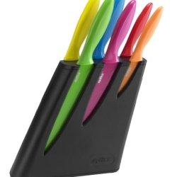 Zyliss Knife Set/Knife Block, Black, 6-Piece