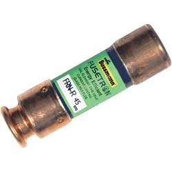 Bussmann Frn-R-45 45 Amp Fusetron Dual Element Time-Delay Current Limiting Fuse Class Rk5, 250V Ul Listed