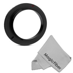 52Mm Macro Reverse Ring Camera Mount Adapter For Nikon (D5300 D5200 D5100 D5000 D3300 D3200 D3100 D3000) Dslr Cameras + Magicfiber Microfiber Lens Cleaning Cloth