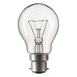 Bell 40W Gls 240V B22D (Bayonet Cap) Rough Service Clear Bulb - [Eu Specification: 220-240V]