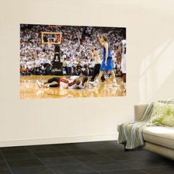 Dallas Mavericks V Miami Heat - Game Two, Miami, Fl - June 2: Dirk Nowitzki By Garrett Ellwood, 48X72