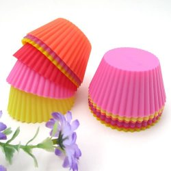 Round Soft Silicone Mould Candy Muffin Cup Cake Baking Mold Tool Cakecup Tools