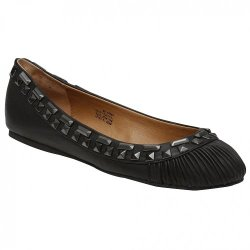 Kelsi Dagger Women'S Emera Ballet Flat, Black Leather, 6 M Us