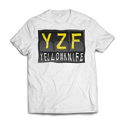 Neonblond Yzf Airport Code For Yellowknife American Apparel T-Shirt Medium