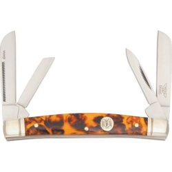 Rough Rider Knives 491 Congress Pocket Knife With Imitation Tortoise Shell Handles