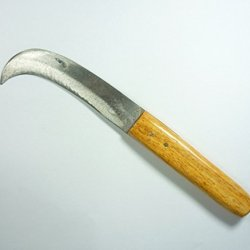 """Wooden Thai Knife Collectible Iron Blade5""""Knife Curved."""