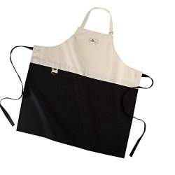 Aga Apron - Cooks Collection - Black & Cream 100% Cotton