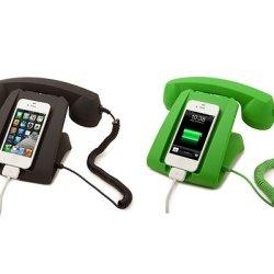 Talk Dock Mobile Device Handset And Charging Cradle Black