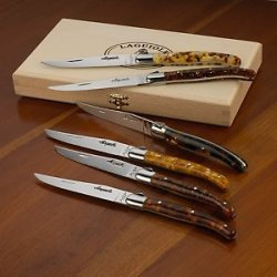 Jean Dubost Laguiole 6-Piece Steak Knives -Tortoise Shell Acrylic