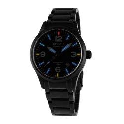 Brand Tritium Gas Tube Watches Mechanical Hand Wind Men'S Military Watch E7009-Black