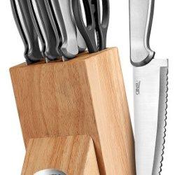Ginsu Kotta Series 8-Piece Japanese 420J2 Stainless Steel Knife Set With Natural Block 4878