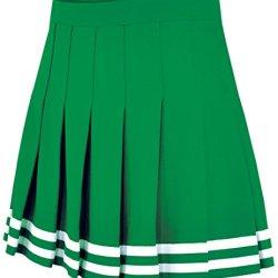 Double Knit Knife Pleat Skirt Kelly Medium