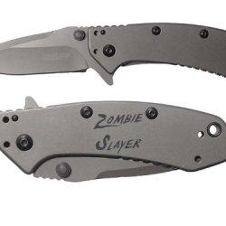Zombie Slayer Txt Engraved Kershaw Cryo 1555Ti Folding Speedsafe Pocket Knife By Ndz Performance