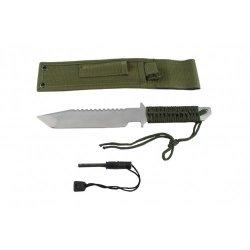 "11"" Full Tang Hunting Camping Survival Serrated Knife"
