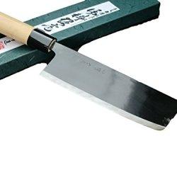 Michio Ishikawa Nakiri Chefs Knife Japanese Knife 150Mm Shirogami Steel Black Blade Cutlery