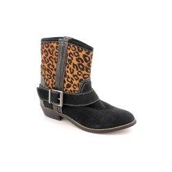 Kelsi Dagger Women'S Tempest Ankle Boot, Black/Leopard, 9.5 M Us