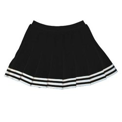 In Stock Elastic Waist Knife Pleat Skirt, Axl, Black