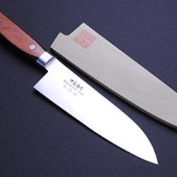 """Yoshihiro Vg-1 Stainless Steel Santoku Multipurpose Japanese Chef'S Knife 7"""" Yoshikuni Series"""