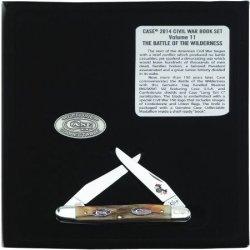 Case Xx Knife Item # 11877 Civil War Vol. 11-The Wilderness-Burnt Stag Muskrat