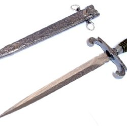 """15.5"""" Roman Collectible Style Stainless Steel Dagger With Sheath"""