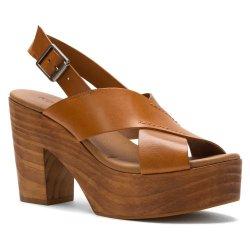 Kelsi Dagger Women'S Shaylah Platform Sandal,Cognac,8 M Us