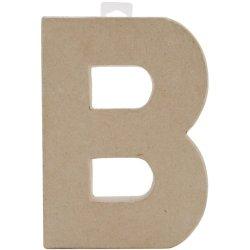 """Paper Mache Letter 8""""X5-1/2""""-Letter B"""