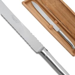 Prestige Range Laguiole Bread Knife - Polished Finish Direct From France