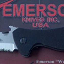Emerson Vindicator Sfs With Partial Serrated Stonewashed Blade
