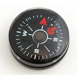 Wholesale Lot 24Pcs Liquid Filled Hammers 20Mm Black Dial Small Mini Compasses Survival Compass