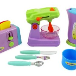 Kitchen Appliances Toy For Kids - Mixer, Toaster, Kettle, Cups & Utensils Set