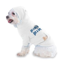 Get A Real Ride! Get A Chevy Hooded (Hoody) T-Shirt With Pocket For Your Dog Or Cat Xs White