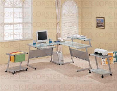 Picture of Comfortable Wrightwood Computer Workstation by Coaster (B002VDHT6C) (Computer Workstations)