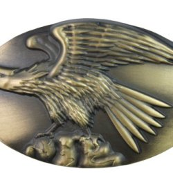 Hogar Zinic Alloy Western Belt Buckle Eagle On Stone Buckles Color Antique Silver
