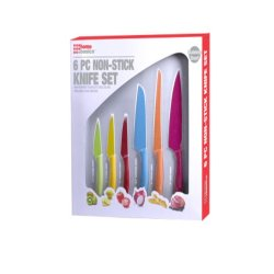 Home Basics 6-Piece Non-Stick High-Carbon Stainless Steel Knife Set