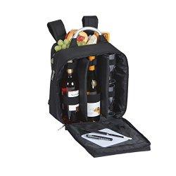 Picnic Plus Magellan Wine & Cheese Back Pack Black