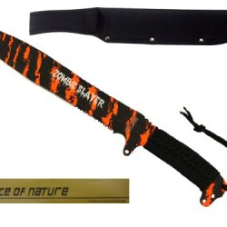 "18"" Machete Full Tang Neon Orange Stripe Camo"