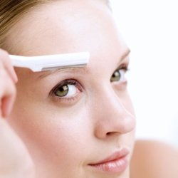 New Lady Anti Slip Slim Eyebrow Razor Brow Shaver Shaper Trimmer Remover