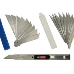 Sdi-0439C Snap-Off Utility Knife With 20 Set Of Sk2+Cr Blades, 9Mm Stainless Steel Precision Cutter