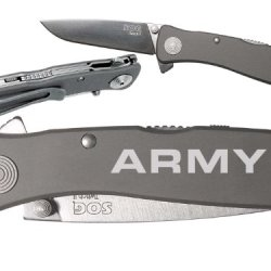 Army 1L Custom Engraved Sog Twitch Ii Twi-8 Assisted Folding Pocket Knife By Ndz Performance
