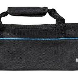 Messermeister 5-Pocket Padded Knife Roll, Black