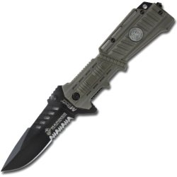 Mtech Usa M-1000T Us Marines Desert Camouflage Plastic Handle Folding Knife, 5-Inch Closed Length