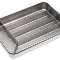 Miu France Brushed Stainless Steel 5-Slot Cutlery Tray, Silver