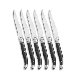 Laguiole Jean Dubost 6 Of Set Steak Knives-Black